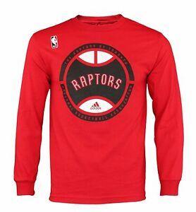 Adidas NBA Men's Toronto Raptors Center Court Graphic Long Sleeve Tee Shirt
