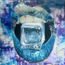 """Original """"Ice, Ice Baby"""" Painting on Gallery Canvas By Andi Janks, Signed"""