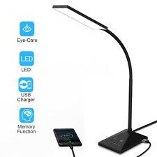 LED Desk Lamp Home Table Lamp 7 Levels Adjustable Night Light USB Port Base Lamp