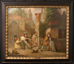 19th Century Oil on Canvas, Signed J. Edgar