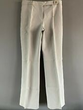 CELINE Light Grey Cotton Regular Bootcut Pants - Size 40 / UK 12 / US 12 / IT 44