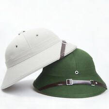 2PCS Vietnam Hat Hunter Fancy Dress Costume With Pith Helmet Cap GREEN AND GRAY