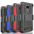 For Motorola Moto E4 G6 Play Plus Shockproof Rugged Belt Clip Phone Case Cover
