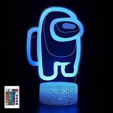3D Led Night Light Remote Control USB Table Lamp 16 Color Changing for Kids GIFT
