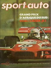 SPORT AUTO 99 1970 LIGIER JS1 GP AFRIQUE DU SUD NEIGE ET GLACE RALLYE DE SUEDE