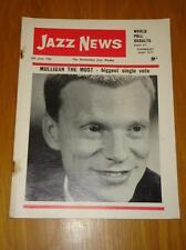 JAZZ NEWS 1962 JUN 6 UK MUSIC MAGAZINE MULLIGAN
