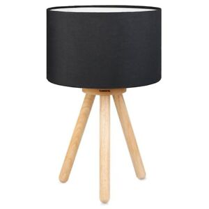 Tomons Wood Tripod Bedside Lamp, Simple Design with Soft Light for Bedroom