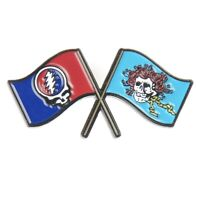 "Grateful Dead - Steal Your Face Scarlet Begonia Flags 1"" 1/2 inch Lapel Hat Pin"