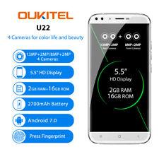 Oukitel U22 Android 7.0 5.5'' Móvil Libres 2+16GB Dual SIM 4*Cam Quad-core 3G ES