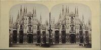 Cattedrale Da Milan Italia Fotografia Stereo Vintage Albumina c1860
