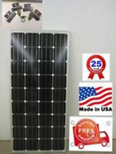 1- 180  Watt 12 Volt Battery Charger Solar Panel Off Grid RV Boat FREE Z BRACKET