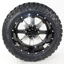 "20x12 Gear Alloy 726M Wheels Black 33x12.50R20 Ironman MT Tires package 33"""
