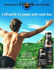 PUBLICITE ADVERTISING 065  2001  USHUAIA   déodorant homme PENJAB