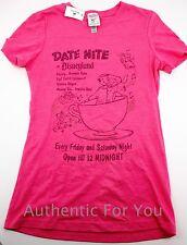 Disneyland WDI Imagineer Exclusive Vintage Date Night Pink Women's T-Shirt Small