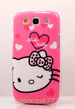 for Samsung galaxy S3 cute hello kitty case pink white polka dot bow heart sIII