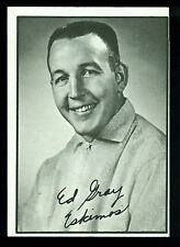 1961 TOPPS CFL FOOTBALL 35 ED GRAY EDMONTON ESKIMOS EX-NM OAKLAHOMA SOONERS