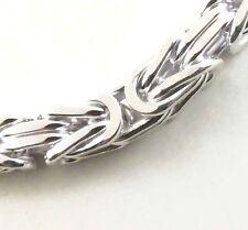 KÖNIGSKETTE VERSILBERT 4mm 45cm Herrenkette Halskette Kette Herren Männer neu