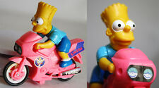 AMAZING VINTAGE SIMPSONS BART SIMPSON MOTORBIKE FIGURE FRICTION SPARKS NEW !