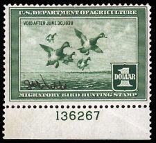 RW4 - 1937 Plate Number Single - Bottom