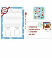 3 x Christmas letter to Santa Kit Kids Children Activity Message Stocking Filler