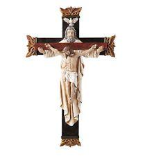 Holy Trinity Wall Crucifix (B3724) 12 Inches Tall