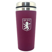 Aston Villa FC Handless Aluminium Travel Mug For Tea Coffee Matt Finish Xmas New