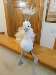 "Jellycat London Lola Wingaling White Peacock Plush Stuffed Animal 20"" NEW w/Tag"