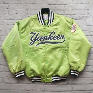 Vintage 90s New York Yankees Satin Jacket by Starter Size L Spike Lee