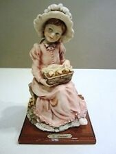 Giuseppe Armani Sculpture:Girl with Chicks in Basket Figurine 1982ed