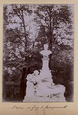 Monument à Guy de Maupassant Parc Monceau Paris Photo Amateur Vintage 1900