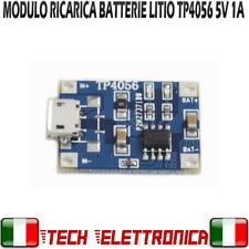 Modulo TP4056 Circuito ricarica Batterie 18650 USB LI-ION Litio 5V 1A