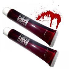 2 Fake Pretend Blood Halloween Costume Vampire Horror Theatrical Make-Up Zombie