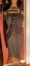 Kim Rogers Signature Ladies 6 Brown White Polka Dot Halter Dress NWTS!