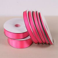 10 Yards Free shipping Hot Pink color solid color grosgrain ribbon
