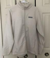 COLUMBIA NWT Men's Boulder Springs Full Zip Fleece Jacket - Off-White Size M