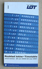 LOT - Polish Airlines Timetable - 2000 - aircraft