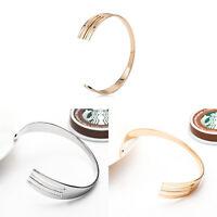 Fashion Elegant Women Gold Silver Open Bangle Cuff Punk Jewellery Bracelet Gift