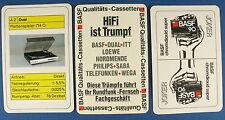 Quartett - BASF DUAL ITT - Werbequartett - LOEWE - NORDMENDE - PHILIPS SABA WEGA
