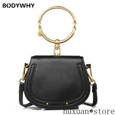 2020 Women Bag  Shoulder Bag Half Moon Handbag Fashion Crossbody Genuine Leather