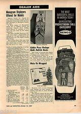 1967 ADVERT Remco Pocketbook Dolls Doll Dr Doolittle Book Store Display