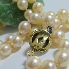 585 / 14k Oro Blanco Oro cierre de Joyería Perla perlas cadena 70cm