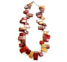 Agate Necklace - Gemstone chain 17 inches