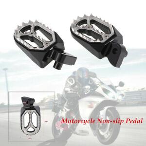 1 Pair Motorcycle Bike Stainless steel Pedal Backfoot Foot Pegs Non-slip Kit