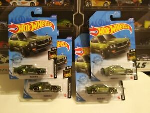 """2020 Hot Wheels """"Low 3.58 Shipping!"""" Mazda RX-3  GREEN X2 #253  +more auction"""