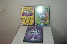 LOT 3 JEUX PC CD ROM ADDITIONNEL LES SIMS 2 GLAMOUR KIT ACADEMY SURPRISE PARTY