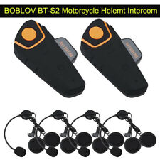 BOBLOV BT-S2 Motorcycle Motorbike 1KM Intercom Interphone GPS FM Radio Helemt