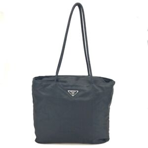 100% authentic Prada nylon tote bag Tesuto black used 265-2-j