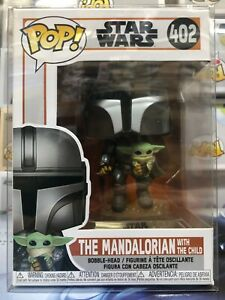 Funko POP! Star Wars The MANDALORIAN w/ The CHILD #402 w/ Protector IN STOCK