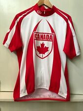 CANADA Red White Performance Bicycle Cycling Jersey Size XL
