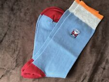 MENS HIGH QUALITY COTTON RICH FRESH FEET GIFT SOCKS CAMPER VAN BLUE ORANGE